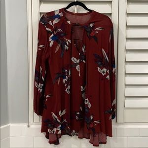 Free people tunic dress long sleeve